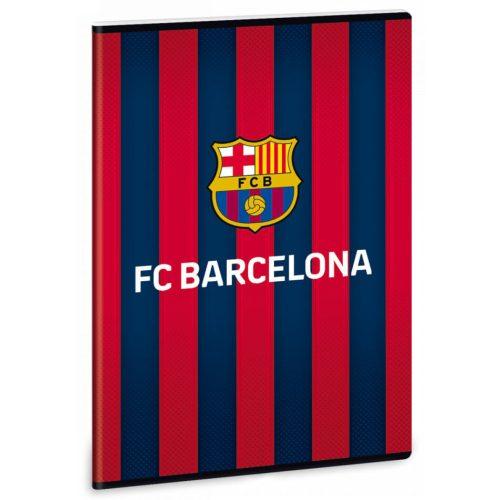 FC Barcelona tűzött füzet A/4, 40 lapos kockás, 1db, FCB logó csíkos háttérrel