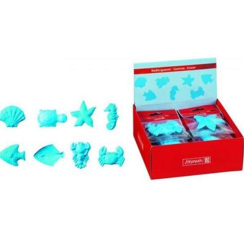 Radír Tengeri állatok 6x4cm többféle forma, kék, Brunnen