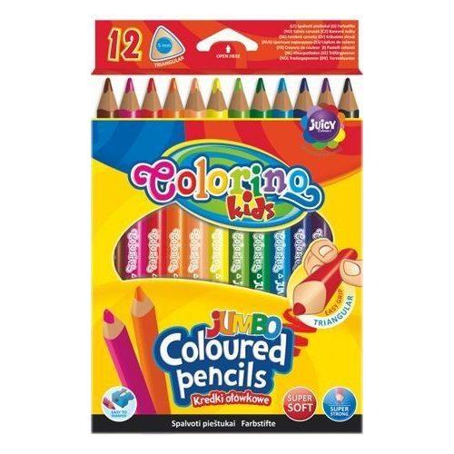 Színes ceruzakészlet 12 db-os Colorino JUMBO trio, háromszög test