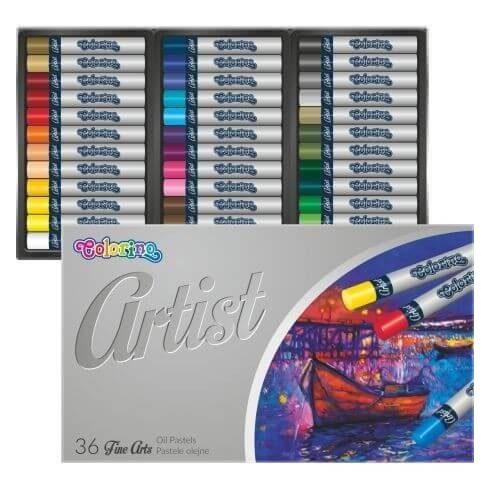 Olajpasztell kréta készlet, 36 db-os, Colorino Artist