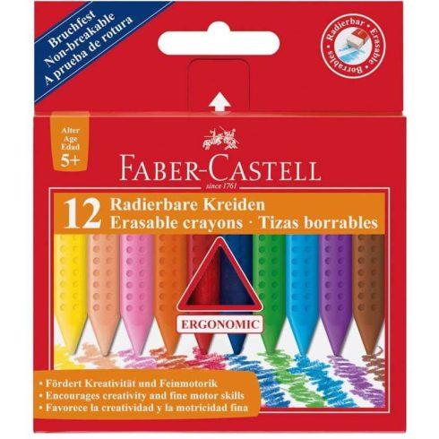 Faber-Castell zsírkréta készlet 12 db-os, Grip, törölhető