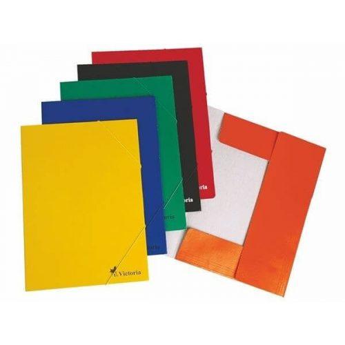 Gumis mappa, karton A/4, Victoria, többféle szín