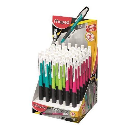 Töltőceruza, mechanikus ceruza 0,5mm Maped Long Life, vegyes színek