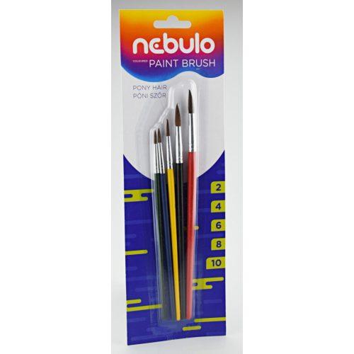 Ecset készlet, 5 db-os (2-4-6-8-10 méretűek), Nebulo