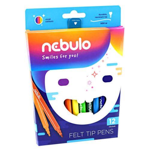 Filctoll készlet, 12 db-os, 1 mm, Nebulo