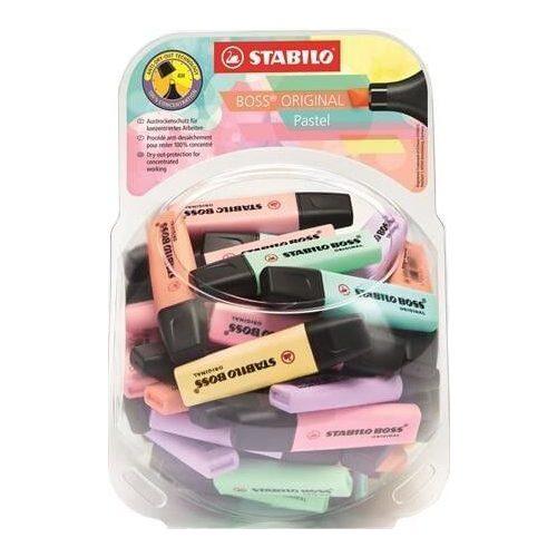 Szövegkiemelő, 2-5mm, Stabilo Boss, vegyes pasztell színek