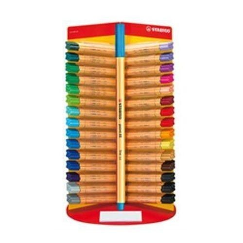 Tűfilc, 0,4 mm, Stabilo Point 88,  vegyes színek, db