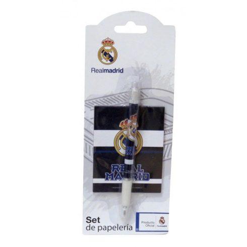 Real Madrid írószer, suli szett, 2 db-os (notesz, golyóstoll)
