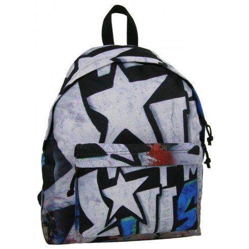 Graffiti Teen hátizsák iskolatáska 42x32x14cm, Star