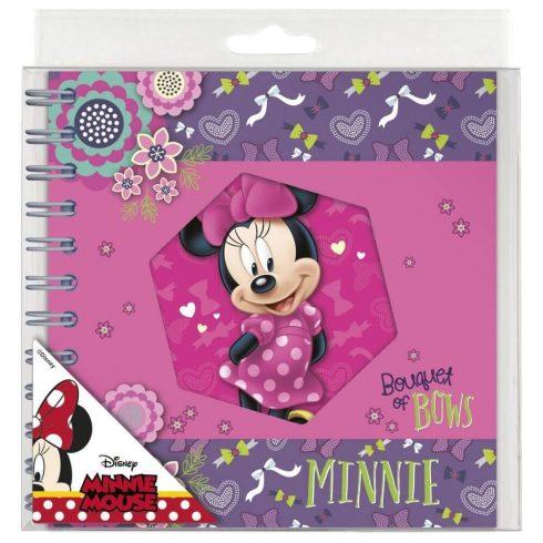 Minnie spirál napló 16x16 cm, többféle
