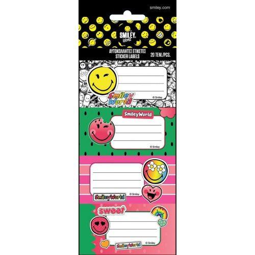 Smiley, emoji füzetcímke 20 db (5ív/cs)