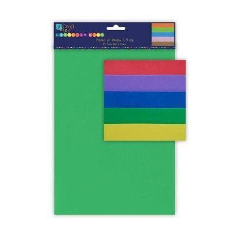 Dekorgumi csomag, A/4, 5 lap/cs, alap színek