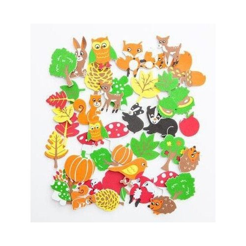Dekorgumi, öntapadós, őszi formák, 96 db-os
