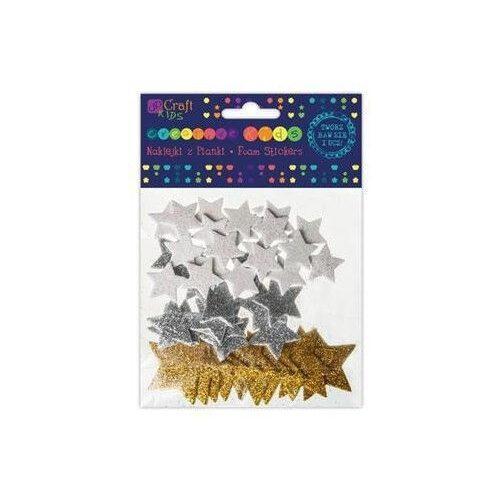 Dekorgumi, öntapadós, csillagok, 45 db-os