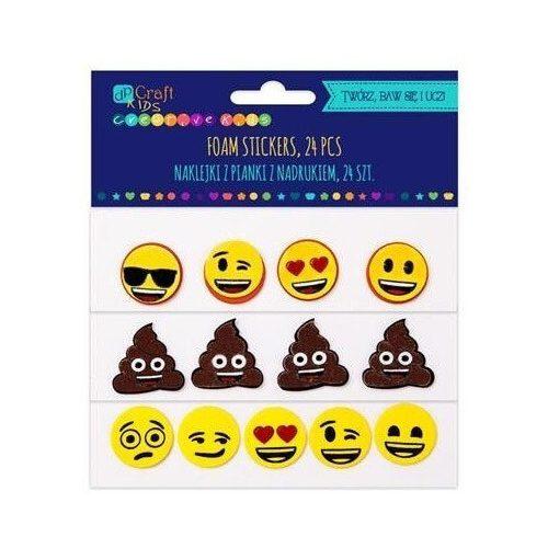 Dekorgumi, öntapadós, smiley, emoji, 24 db-os