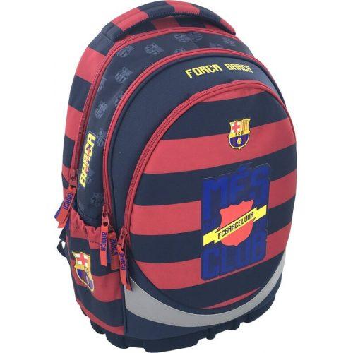 FC Barcelona ergonómikus hátizsák, iskolatáska 46x34x18cm, csíkos