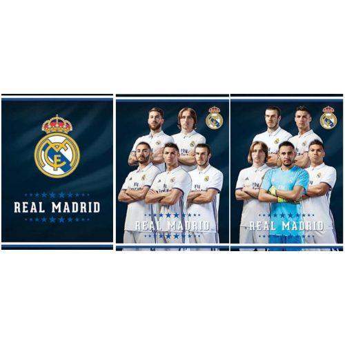 Real Madrid füzet A/4, kockás, 54 lap, 80g, többféle minta