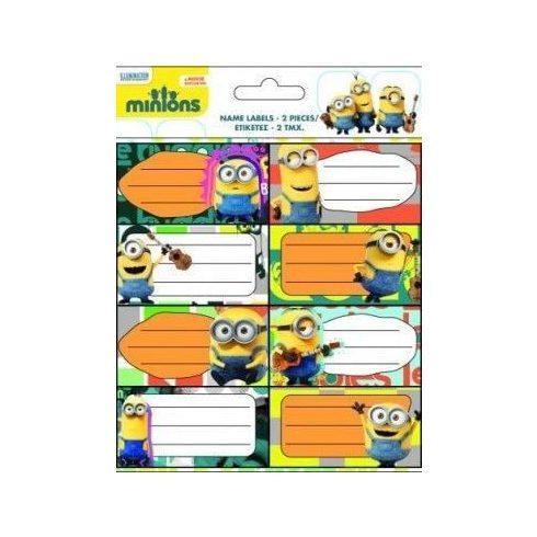 Minions, Minyonok füzetcímke 2x8 db/ív