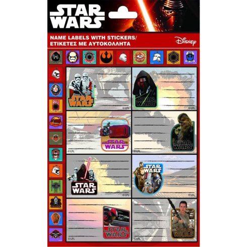 Star Wars füzetcímke 8 db/ív plusz matricákkal