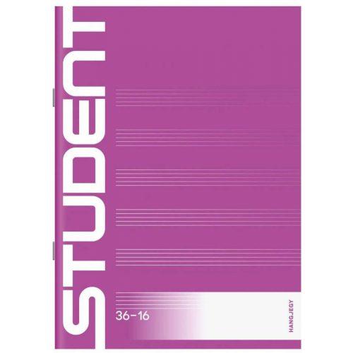 Student tűzött füzet A/5, 16 lap hangjegy