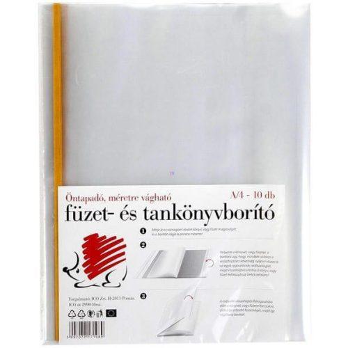 Füzet- és tankönyvborító, A/4, öntapadós csíkkal, 10 db/csomag, Süni