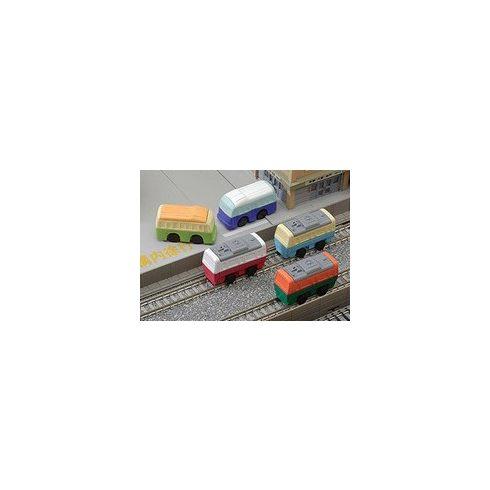 Radír, vonat és busz, vegyes, 1 db