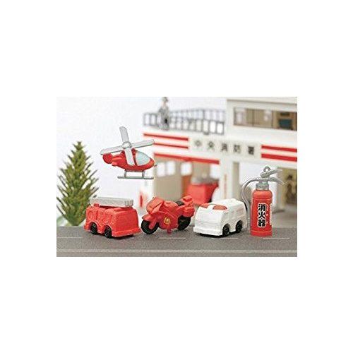 Radír, tűzoltó és mentő járművek, vegyes, 1 db