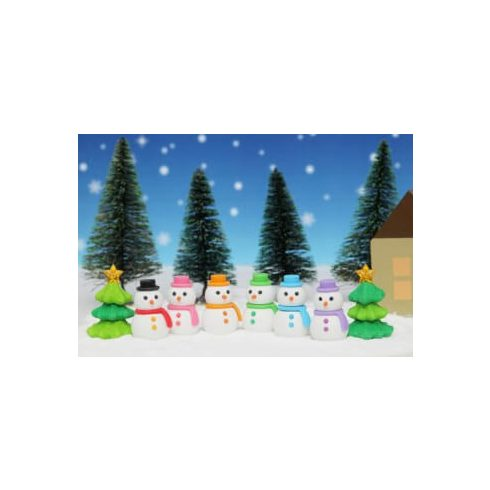 Radír, hóember vagy karácsonyfa, vegyes, 1 db