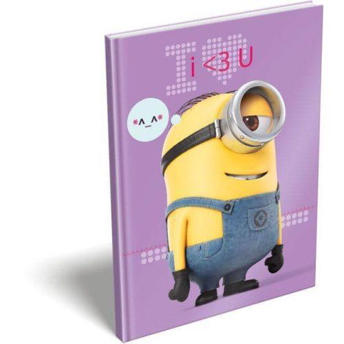 Minions, Minyonok napló, keményfedeles notesz A/6 I Love U