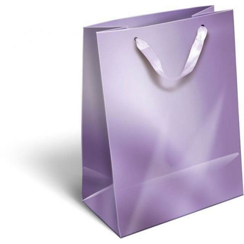 Ajándéktáska 23x18x9cm M, szalagfüles, Perlage, Purple, lila