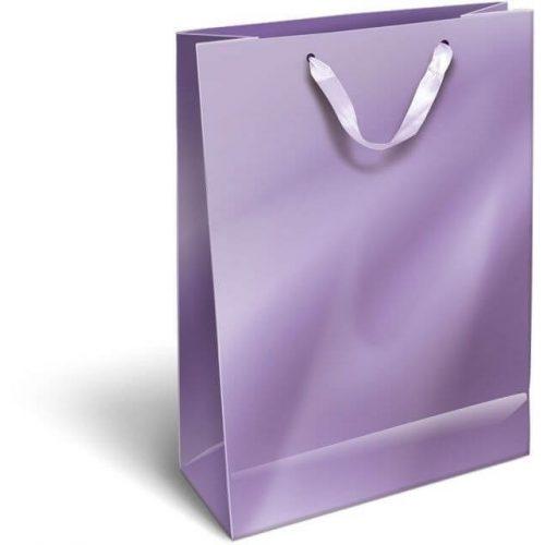 Ajándéktáska 32x24x10cm L, szalagfüles, Perlage, Purple, lila