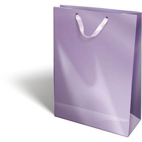 Ajándéktáska 38x28x12cm XL, szalagfüles, Perlage, Purple, lila