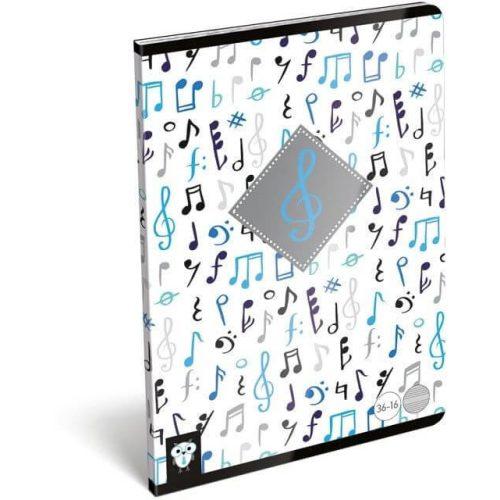 Lizzy Card tűzött füzet A/5, 16 lap hangjegy Music Violin