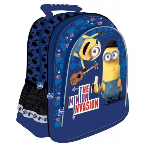 Minions, Minyonok hátizsák, 38x29x18cm, kék, The Minion Invasion