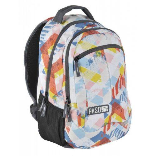 Paso hátizsák, iskolatáska 46x34x20cm, világos, rombusz mintával