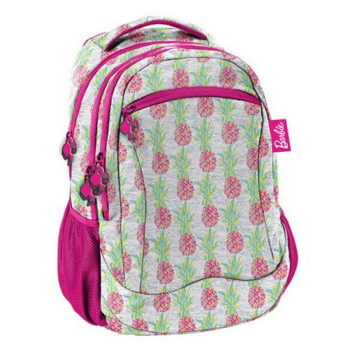 Barbie hátizsák, iskolatáska 43x31x19cm, ananász mintával, Paso