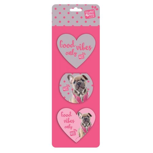 Kutyás jegyzettömb szett, 3 db/csomag, rózsaszín, Paso Studio Pets