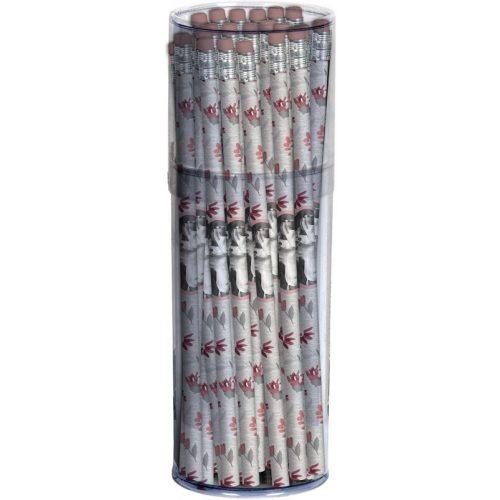 Lovas grafitceruza radírral, 1 db, rózsaszín, Paso