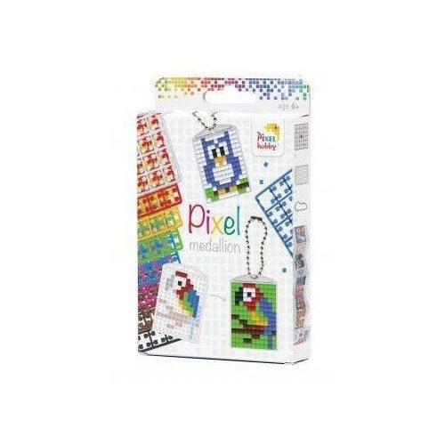 Pixel kulcstartókészítő szett 3 kulcstartó alaplappal, 8 színnel, mintákkal