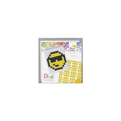 Pixel kulcstartókészítő szett 1 kulcstartó alaplappal, 3 színnel, smiley, emoji