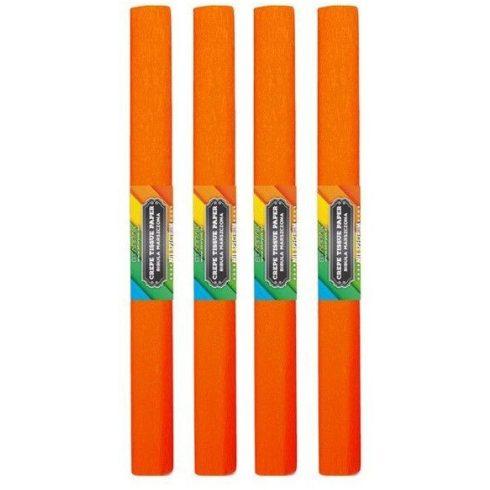 Krepp papír 50x200cm, egyszínű, sötét narancs