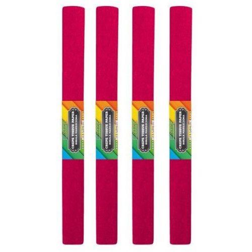 Krepp papír 50x200cm, egyszínű, bordó