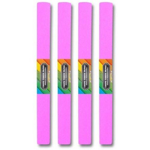 Krepp papír 50x200cm, egyszínű, világos rózsaszín