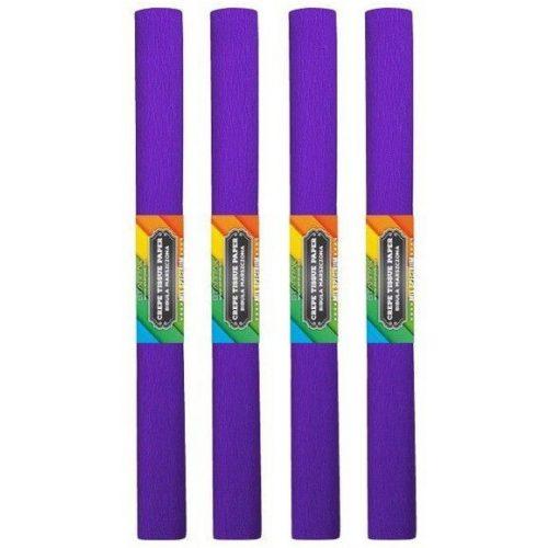 Krepp papír 50x200cm, egyszínű, lila