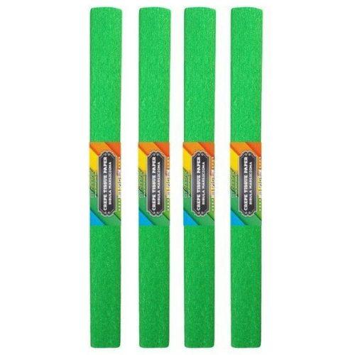Krepp papír 50x200cm, egyszínű, világoszöld
