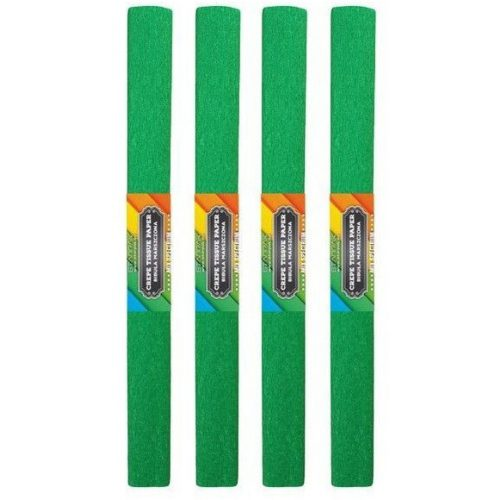 Krepp papír 50x200cm, egyszínű, sötétzöld