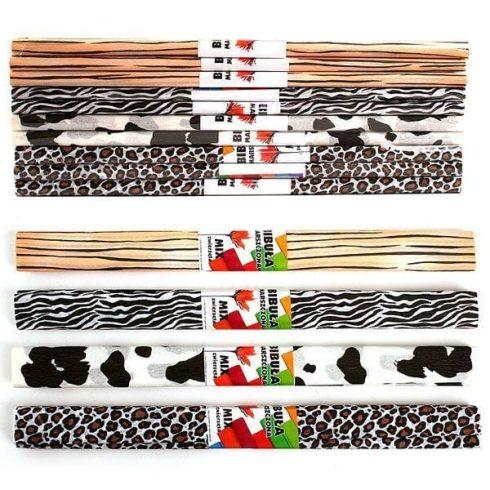 Krepp papír 50x200cm állatmintás