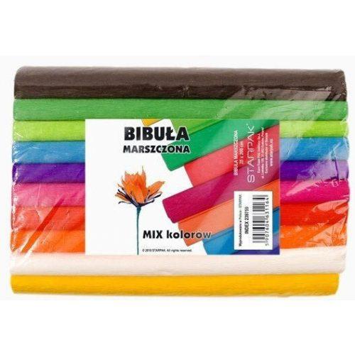 Krepp papír 25x200cm vegyes színek 10 db-os