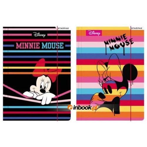 Minnie gumis mappa A/4, többféle minta