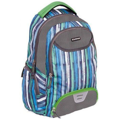 Starpak Soulmate hátizsák, iskolatáska, 44x32x13cm, csíkos